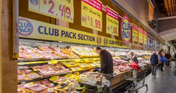 Beef stall at supermarket