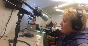 Dr. Nina Zidak recording podcast